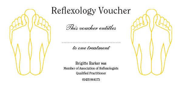 vouchers for reflexology treatments